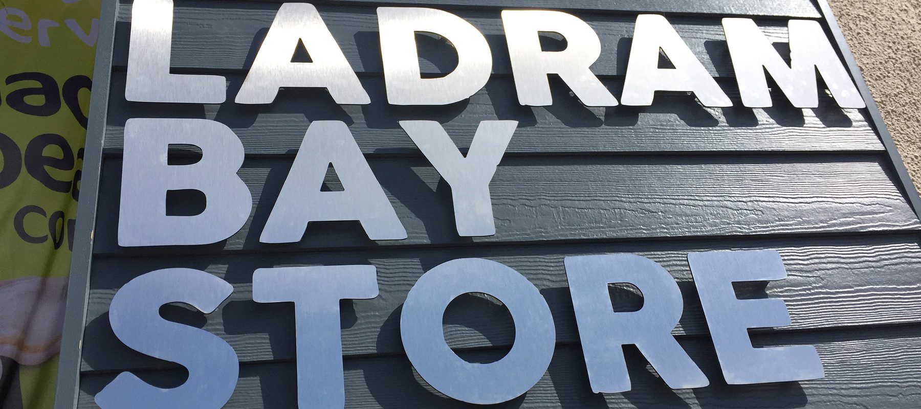 ladram bay store sign logo