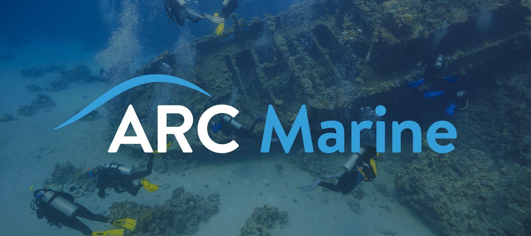 arc marine reef conservation virgin start up brand logo website design