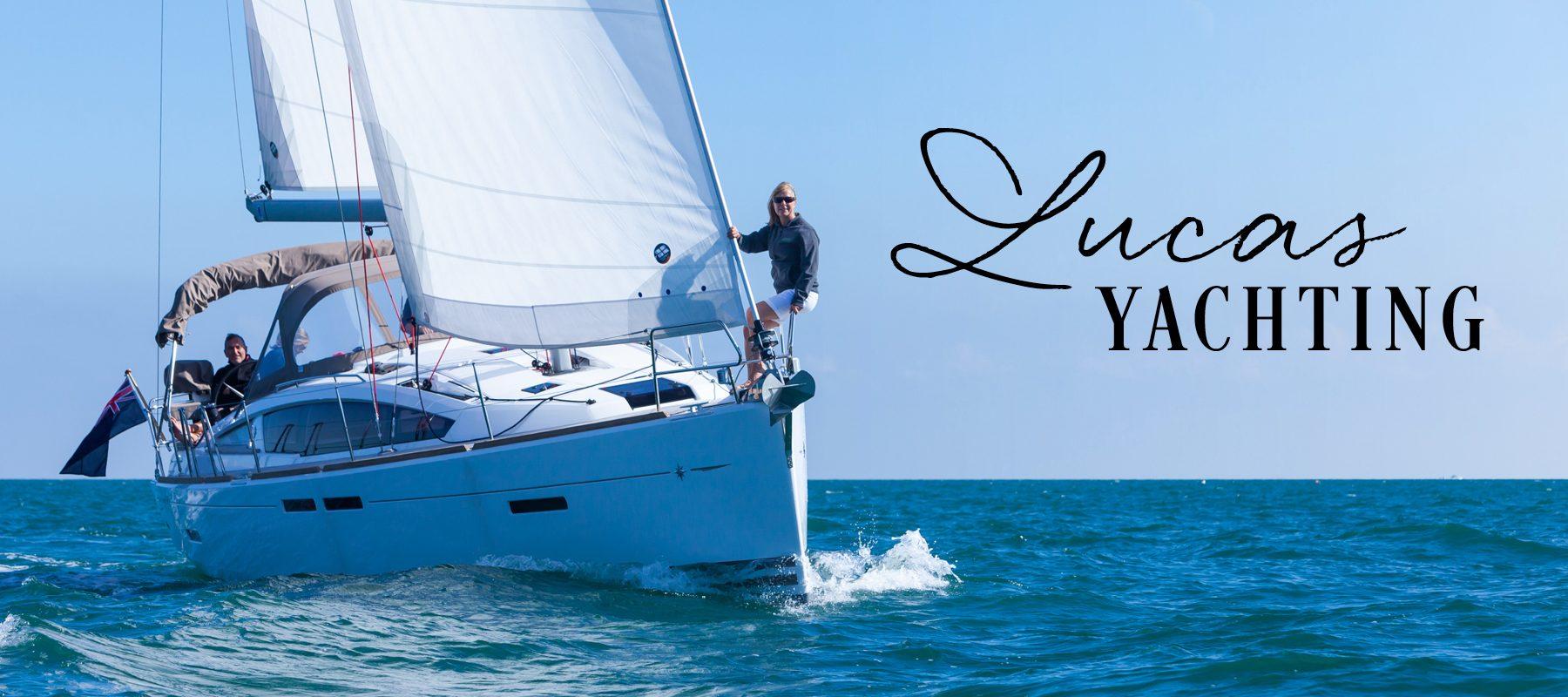 lucas yachting logo branding torquay brokerage web design