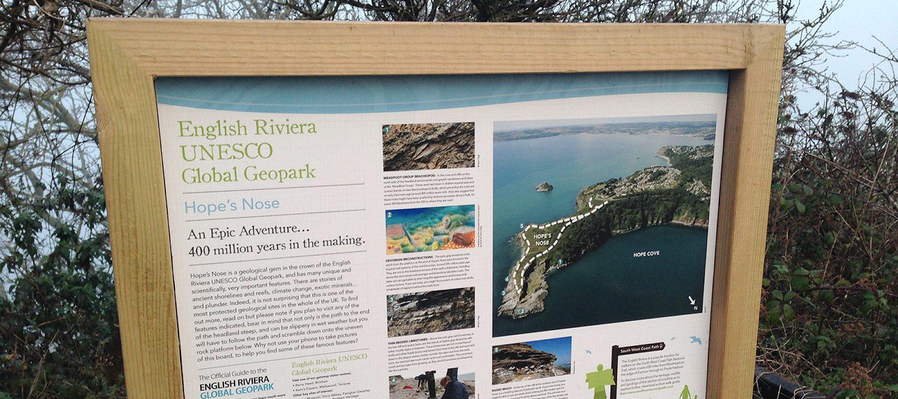 unesco global interpretation signage design torbay english riviera