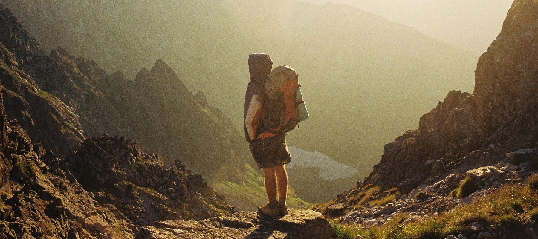 travel channel explorer mountain stock image