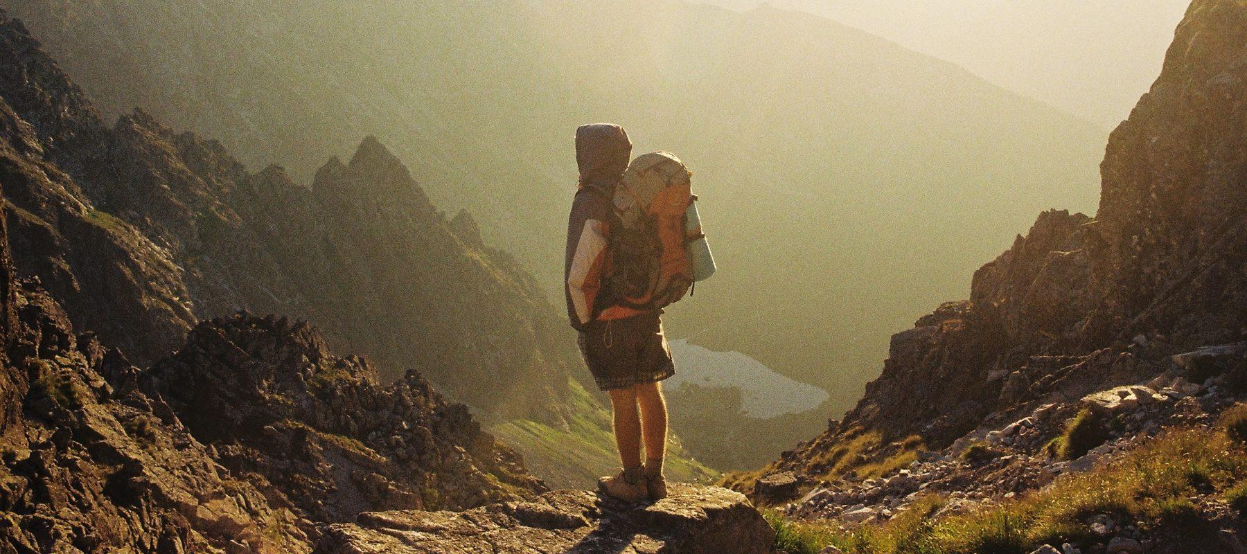explorer mountain stock image
