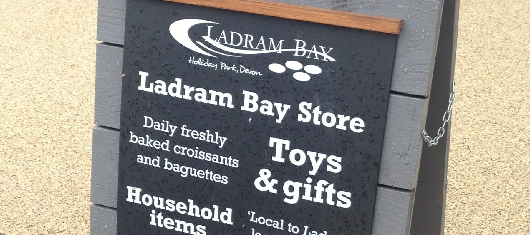 ladram bay store a board design bespoke wood timber