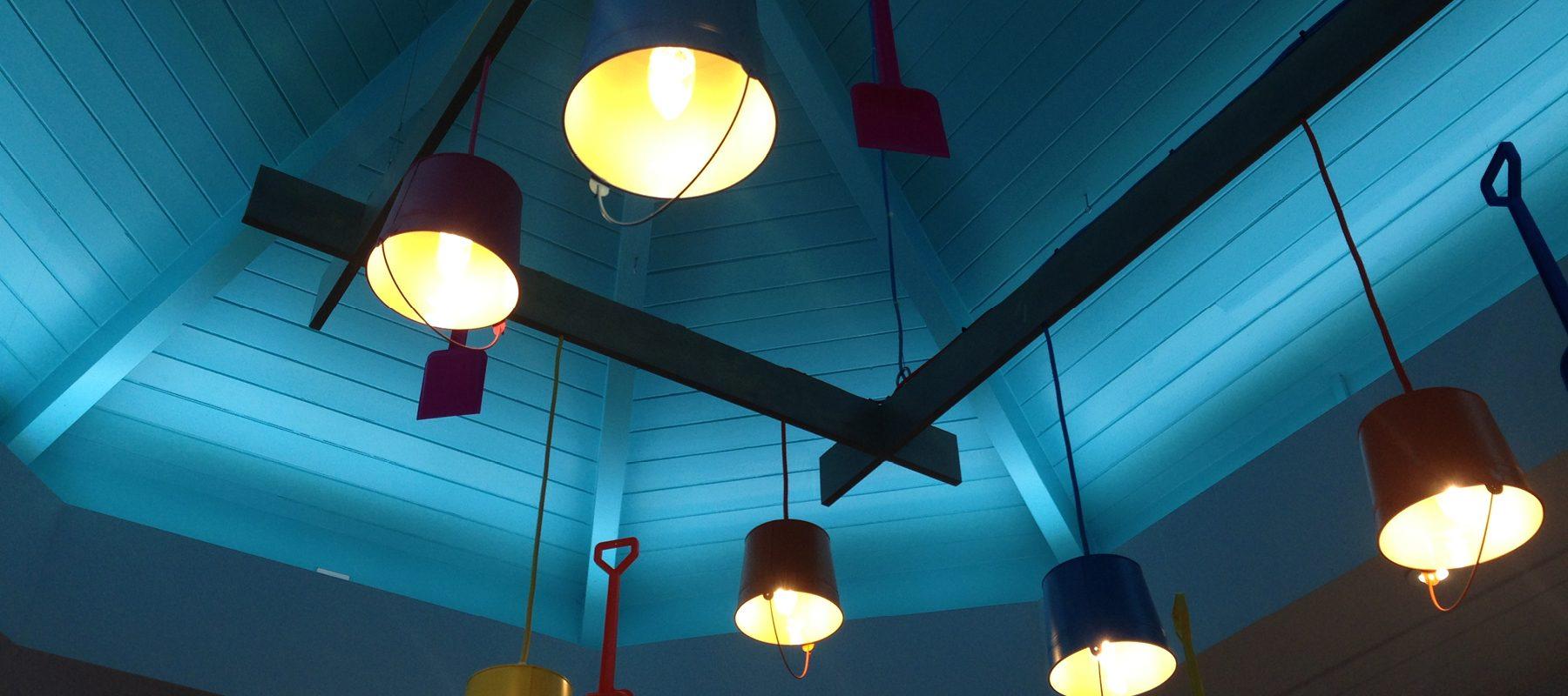 bucket spade lighting interior reception