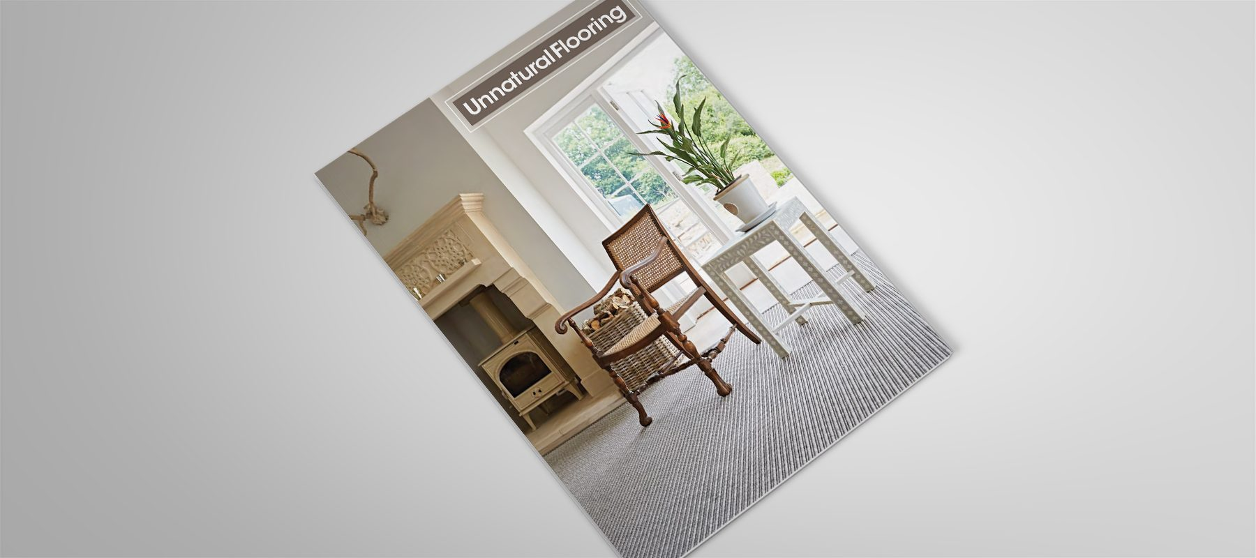 product brochure creative cover unnatural flooring