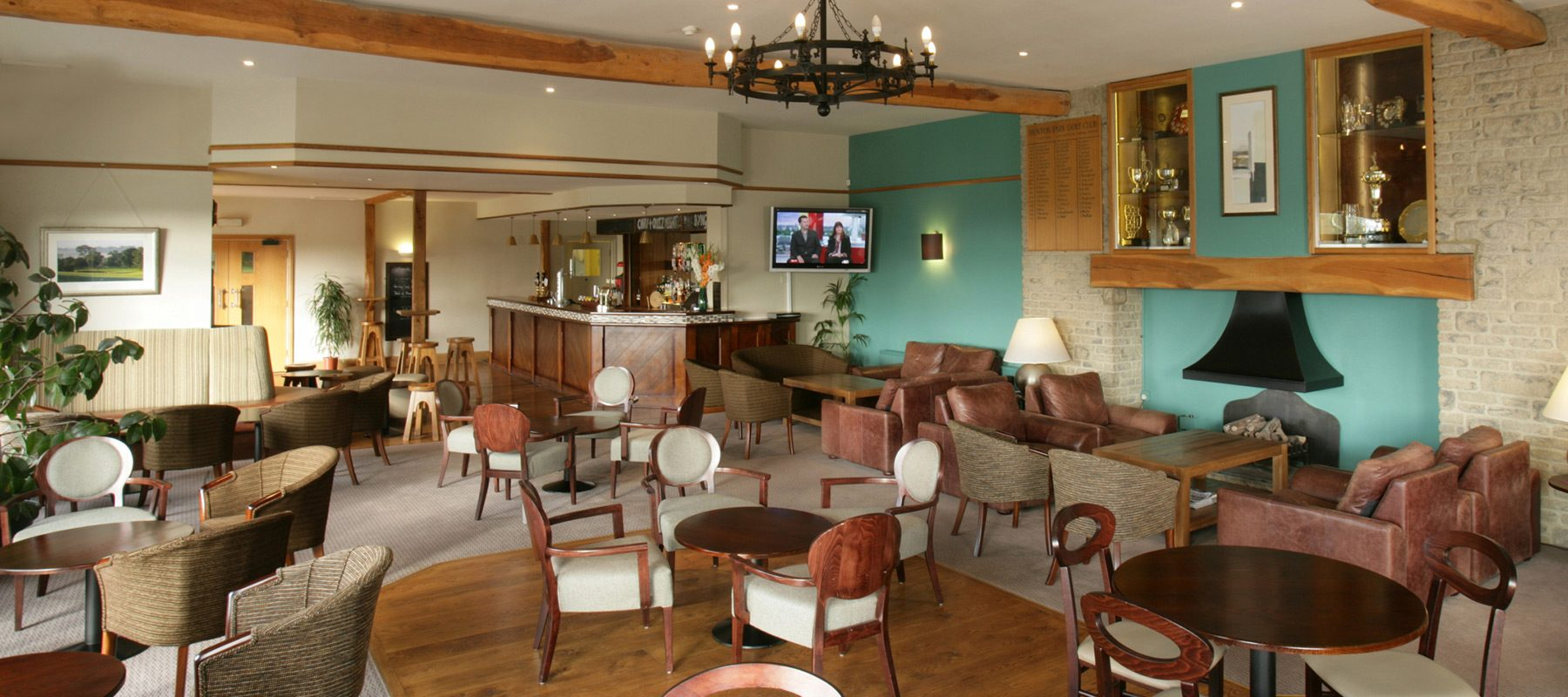 dainton park interior design lighting bar bespoke chair golf club