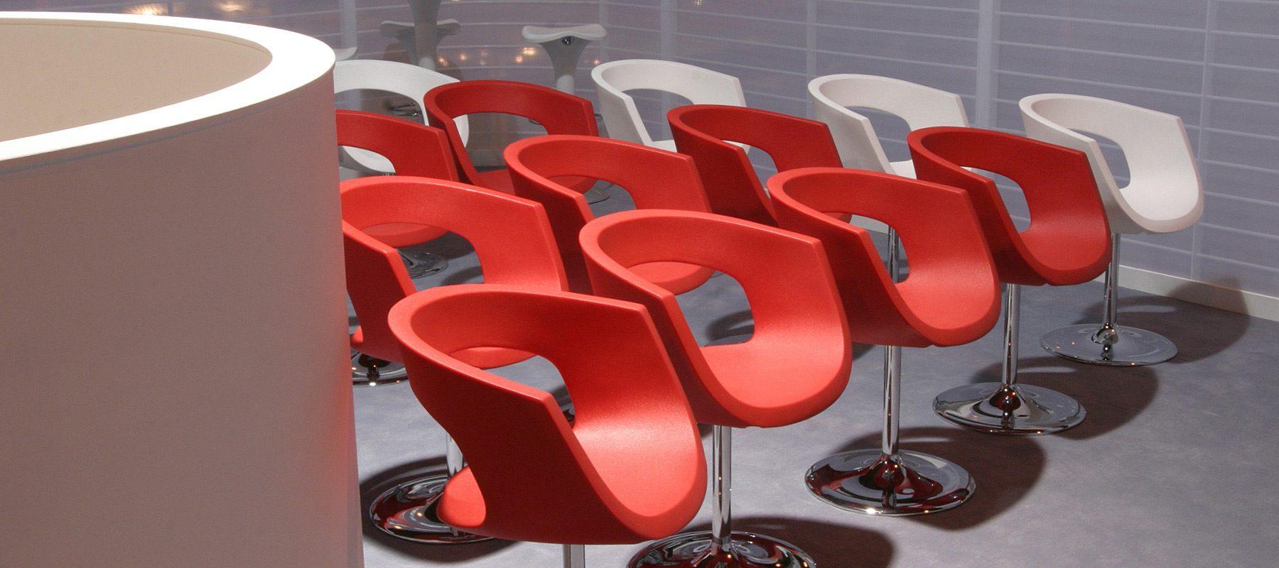 bt redcare exhibition chairs interior design