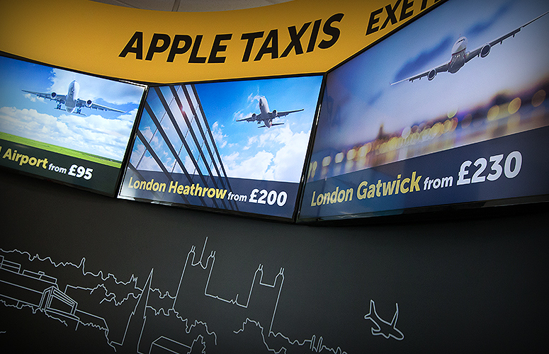 apple taxis exeter