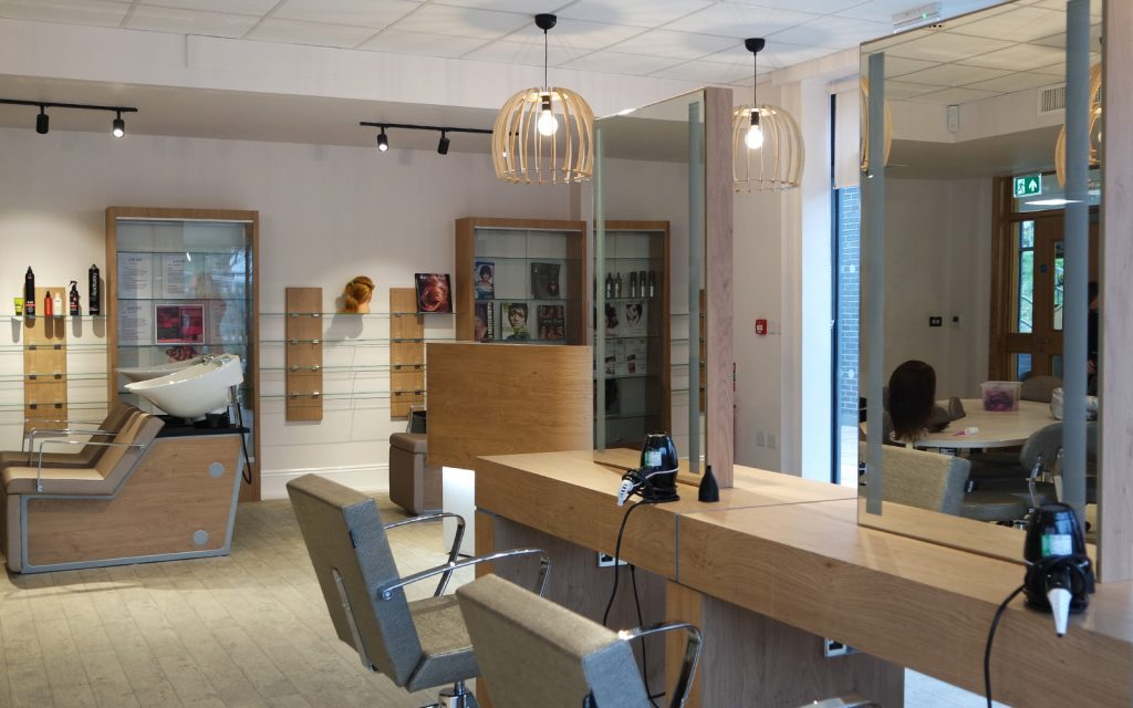 Combe pafford fruition hair salon and beauty room for for Interior design agency uk