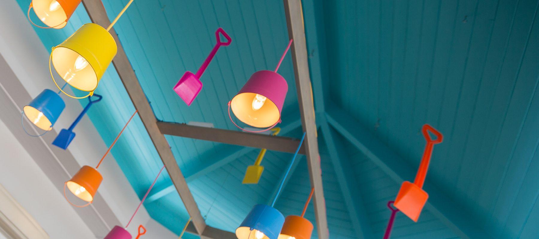 seaside lighting interior design holiday park reception